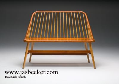 Bowback Bench | Jas. Becker Cabinetmaker | Windsor Bench