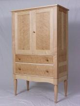 Breznick Birdseye Maple Armoire