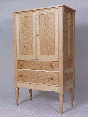 Birdseye Maple Armoire Breznick Woodworking