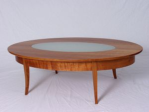 Breznick Cherry Oval CoffeeTable