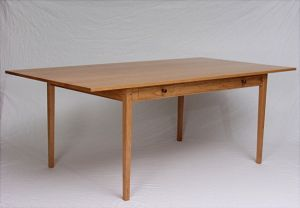 Breznick Cherry table with drawers