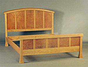 Cherry and Madrone Temple Bed
