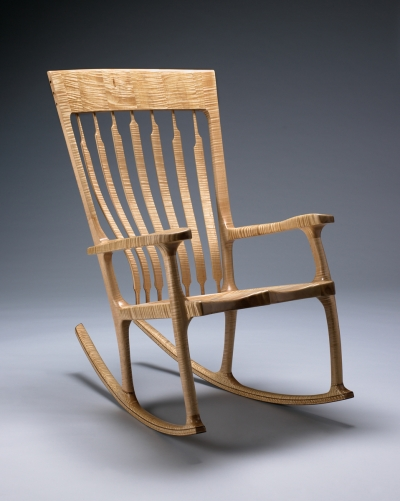 Vermont Rocking Chair Curly Maple Kit Clark Furniture N Ferrisburgh Vt