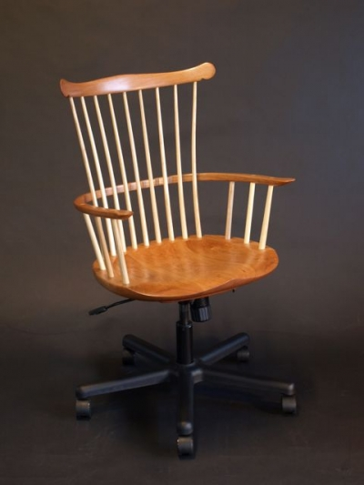 Cherry Waltham Desk Chair Timothy Clark Cabinetmaker