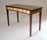 Gasperetti Concave Writing Desk - Walnut & Blistered Maple
