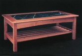 Gasperetti Marble Top Coffee Table - Cherry