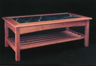 Gasperetti Marble Top Coffee Table - Cherry