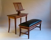 Gasperetti Music Stand & Bench - Walnut