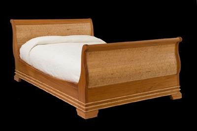 Gasperetti Sleigh Bed - Maple & Mahogany