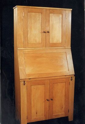 Painted Pine Desk Cabinet Dorset Custom Furniture Dan
