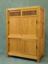 Tansu chest in cherry