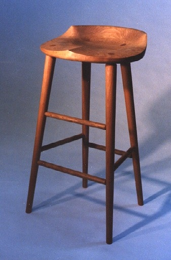 Tractor Seat Stool Richard Bissell Fine Woodworking