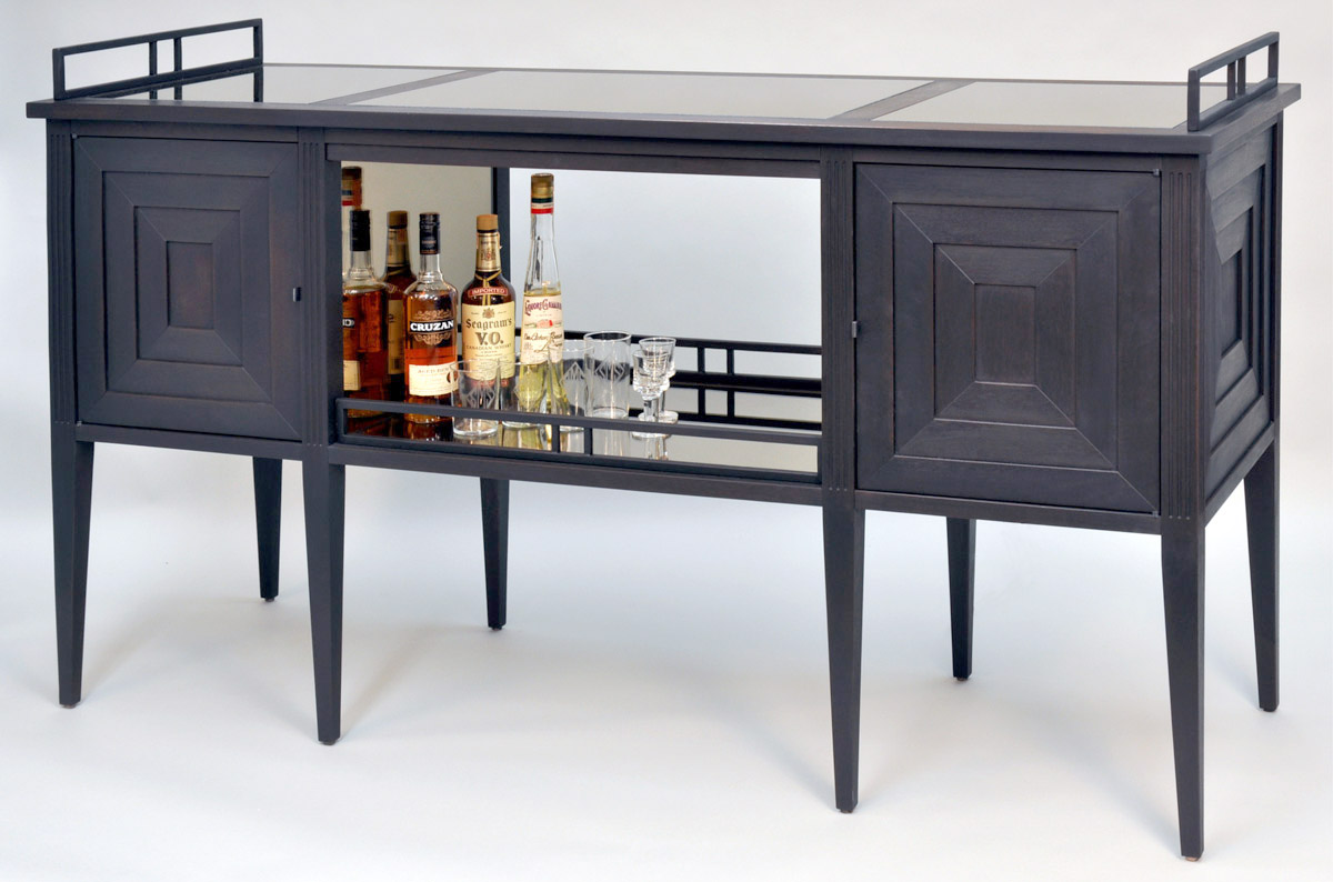 Art Deco Bar Cabinet Dorset Custom Furniture Dan Mosheim Vermont