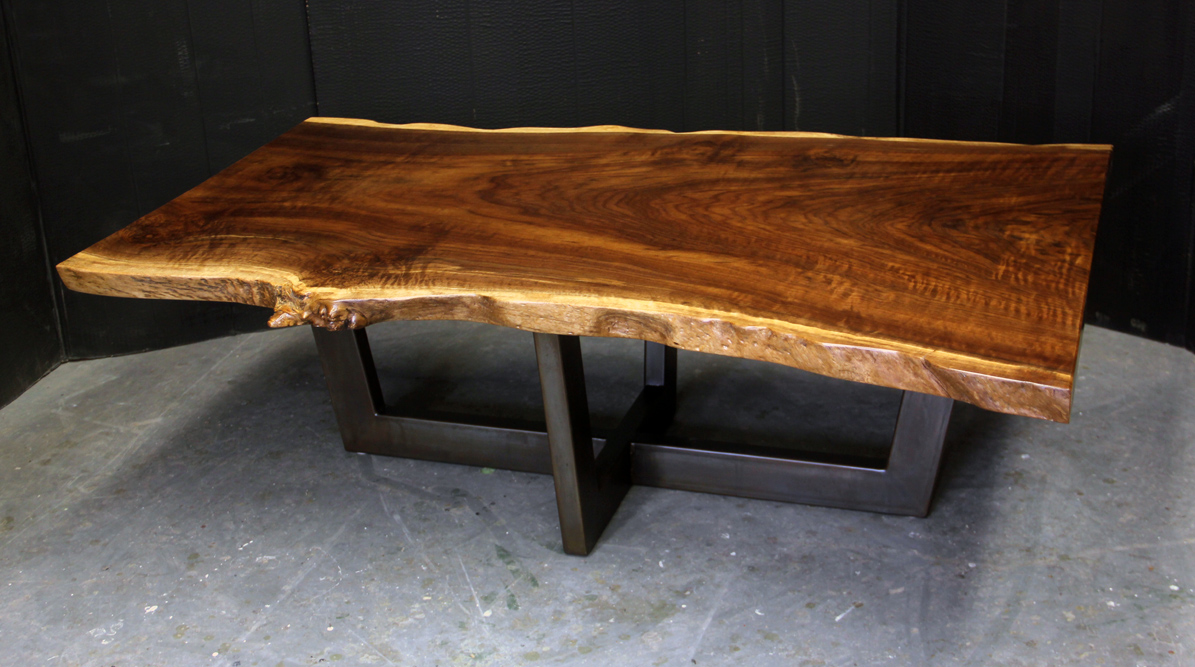 Redwood painted steel coffee table dorset custom for Custom coffee tables