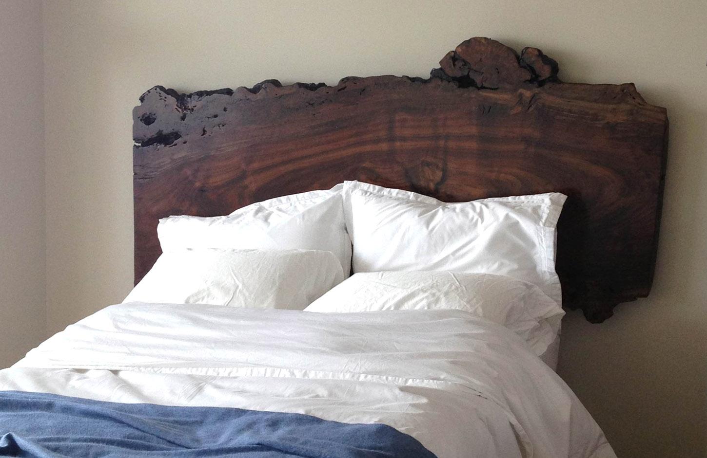 Walnut Slab Platform Bed Dorset Custom Furniture Dan
