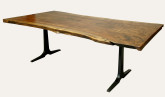 claro walnut slab dining table 8