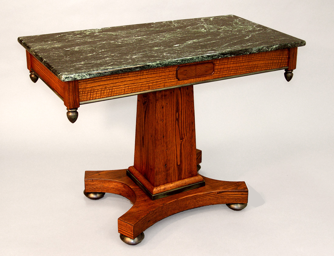 Cherry & Marble Empire Style Console