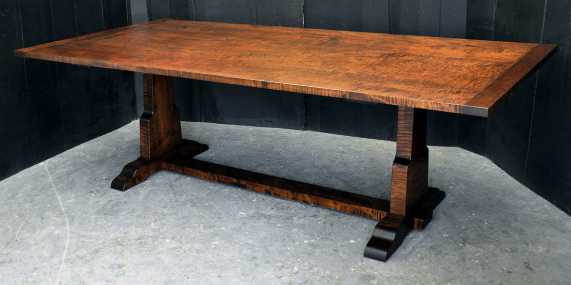 Expanding cherry dining table dorset custom furniture for Cherry dining table