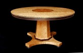 custom round expanding cherry dining table 1