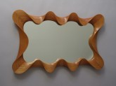 Large Cherry Taffy Mirror, by David Hurwitz Originals, Randolph, Vermont