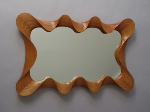 Large Cherry Taffy Mirror, by David Hurwitz Originals, Randolph, Vermont