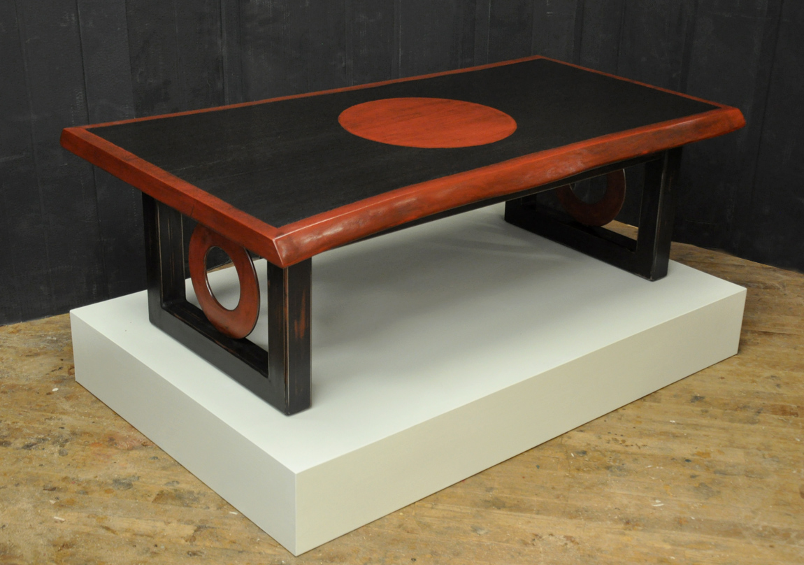 Redwood Amp Painted Steel Coffee Table Dorset Custom
