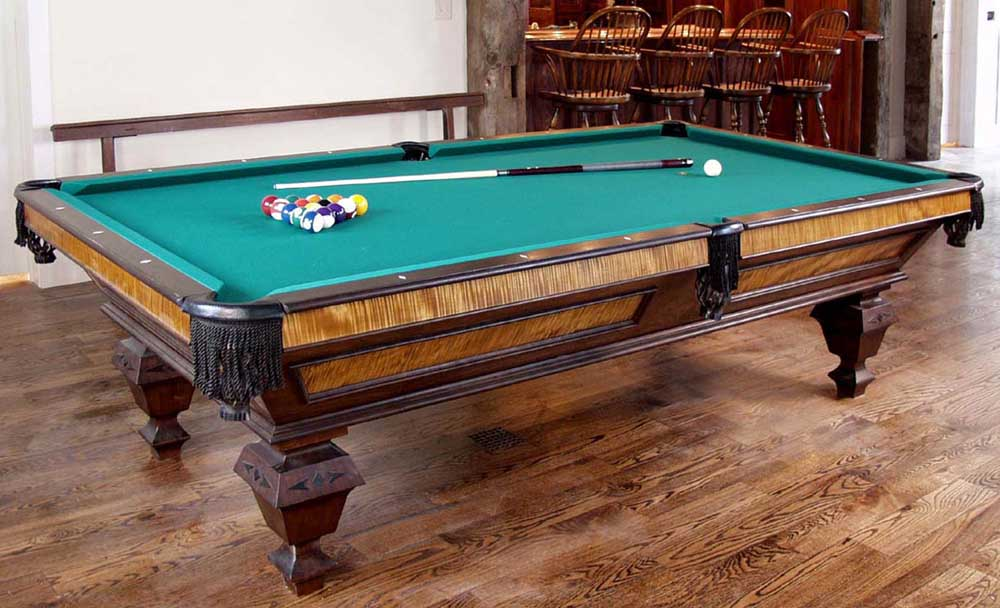 Curly Maple Amp Mahogany Pool Table Dorset Custom