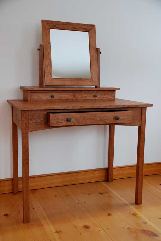 Handmade Mission Cherry Dressing Table Hawk Ridge Furniture Vermont