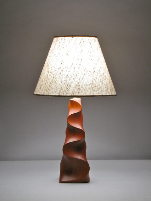Carved wood table lamp david hurwitz originals randolph vermont table lamp in carved fsc cherry by david hurwitz randolph vermont aloadofball Images