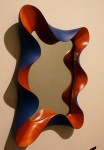 Taffy Mirror by David Hurwitz, carved and painted cherry. Copyright 1998, David Hurwitz. All rights reserved.