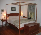 cherry pencil post bed with canopy frame
