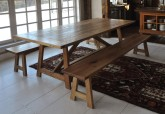 reclaimed chestnut basque style dining table