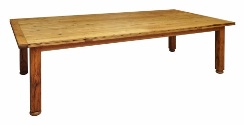 reclaimed chestnut table with self storing laves