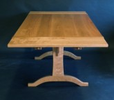 cherry,trestle table
