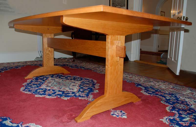 Cherry Shaker Trestle Table Hawk Ridge Furniture Paul