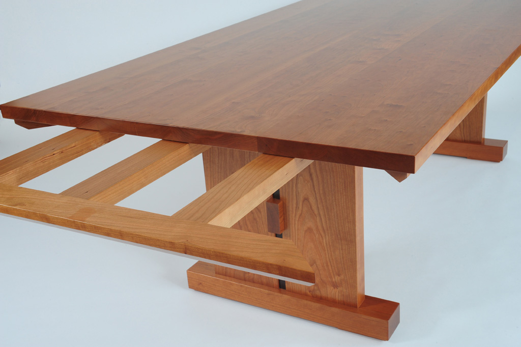 Trestle table for Building a trestle dining table