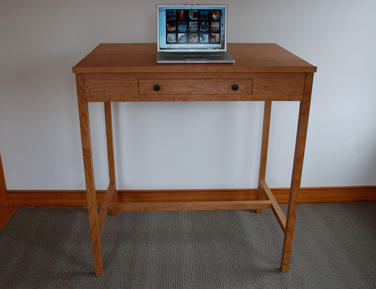 Wooden Stand Up Desk ~ Custom wood stand up desks made in vermont