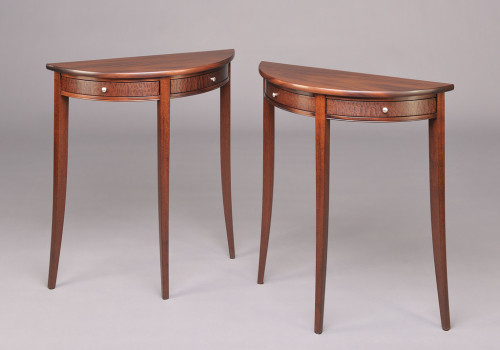 Demi lune side tables