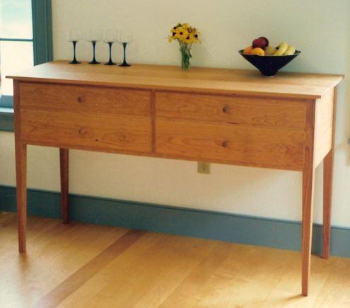 Delightful Four Drawer Vermont Made Sideboard