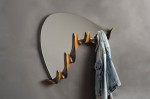 Modern Coat Rack With Mirror. Copyright David Hurwitz, 2013. All rights reserved.