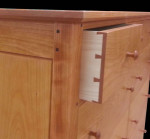 custom dresser with dovetailed drawers