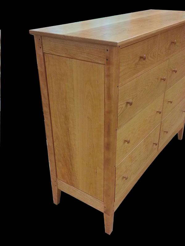 Handmade Cherry 9 Drawer Double Dresser Mission Inspired
