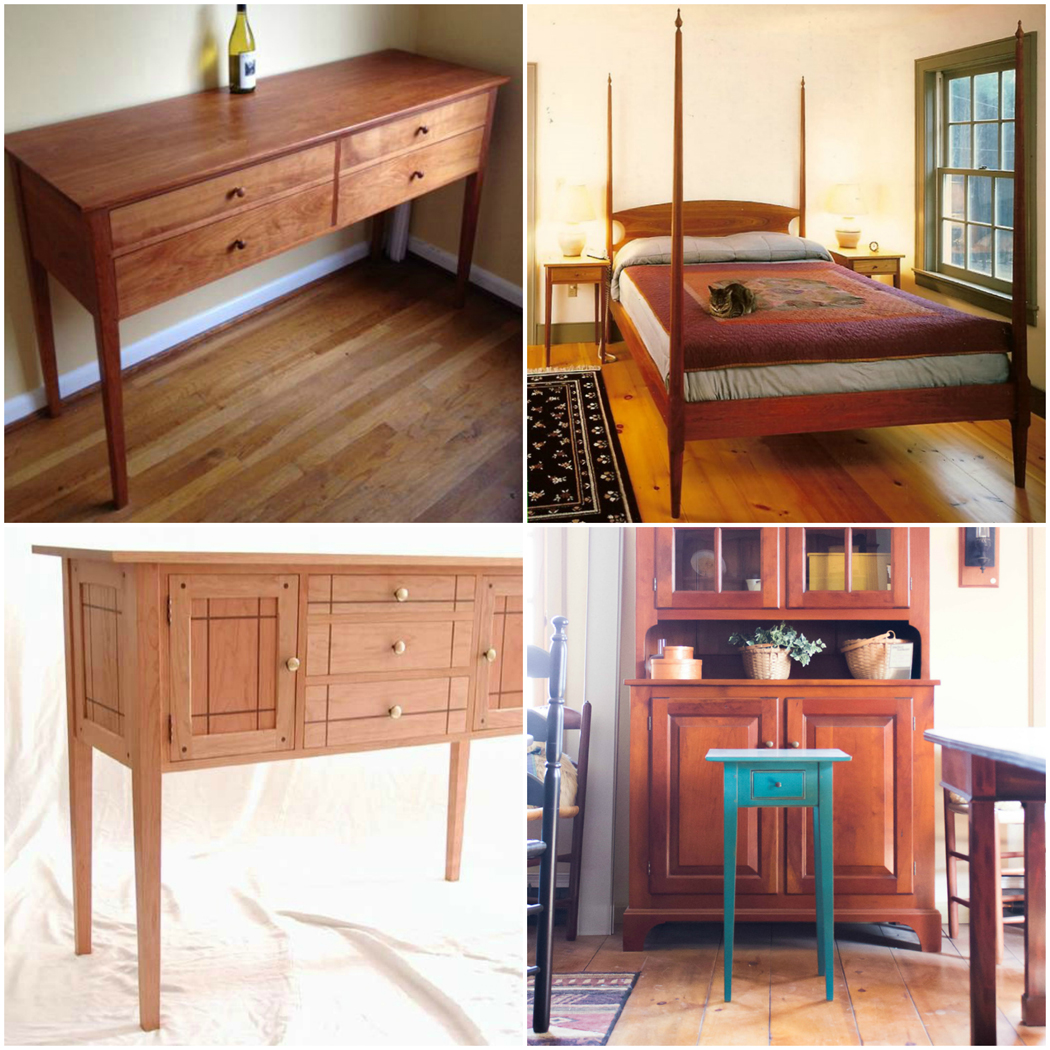 Vermont furniture makers on american furniture styles for Shaker furniture