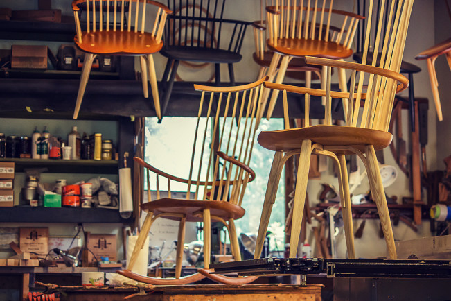 Waltham Chairs in Tim Clark's Shop