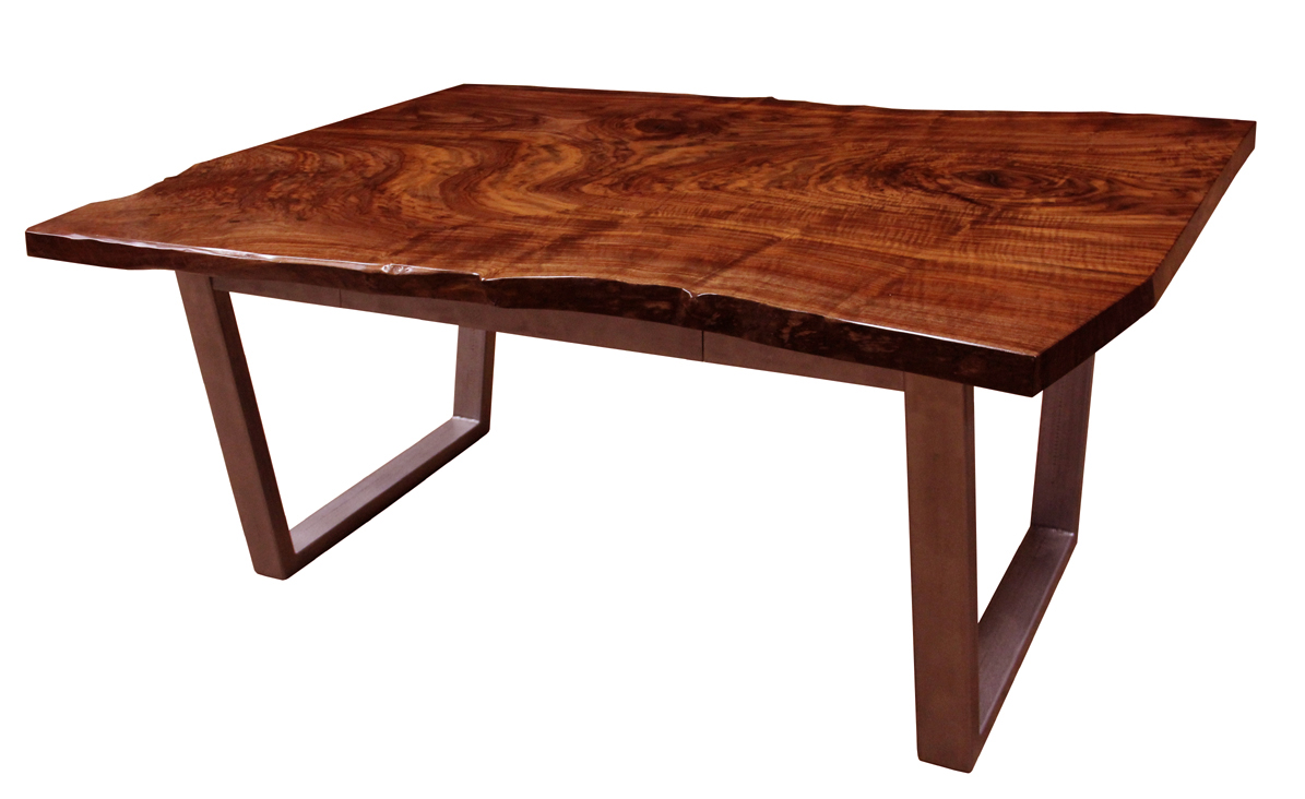 A Claro Walnut Slab Desk Available For Immediate Delivery Nationwide