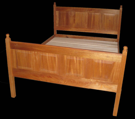 mahogany raised panel bed