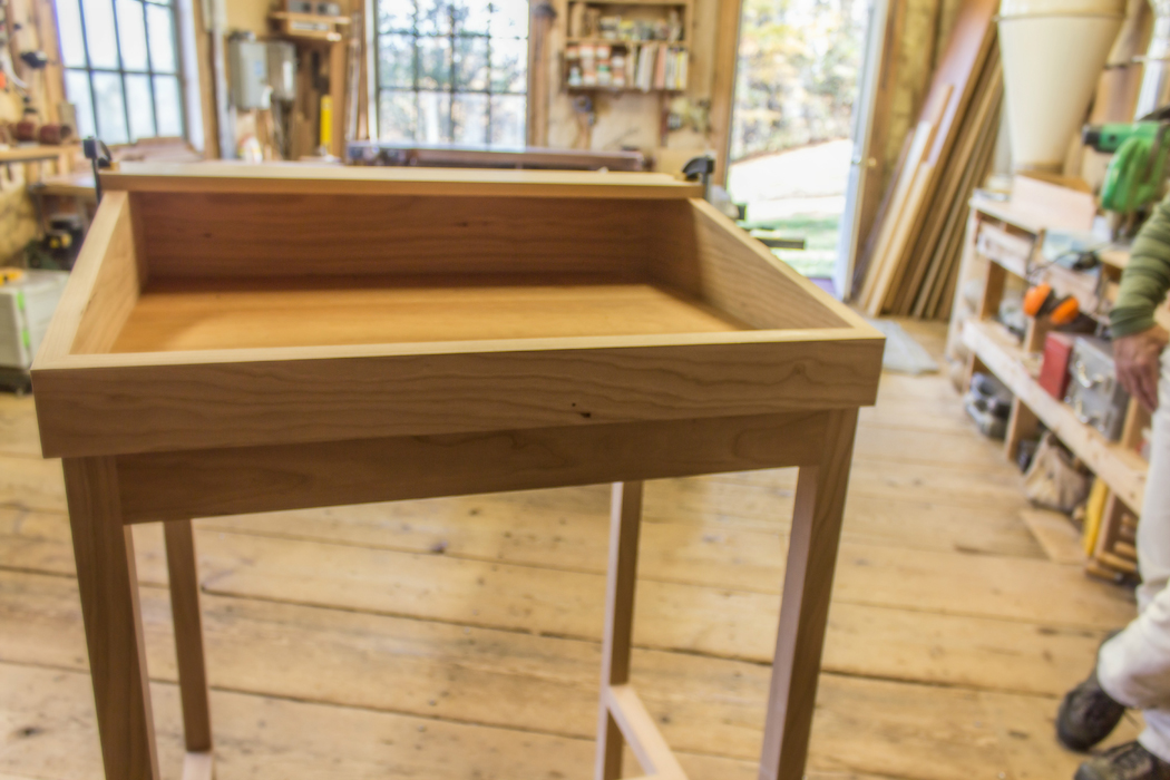 Close up of a Standing Desk