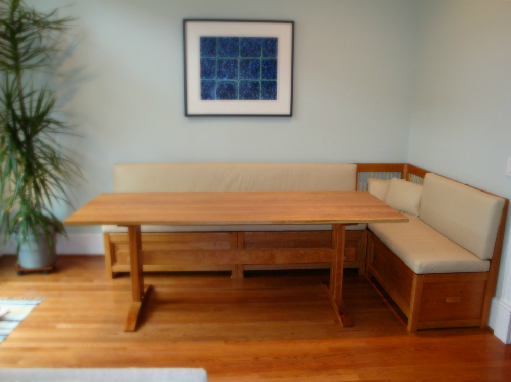 custom banquettes and benches from vermont furniture makers. Black Bedroom Furniture Sets. Home Design Ideas
