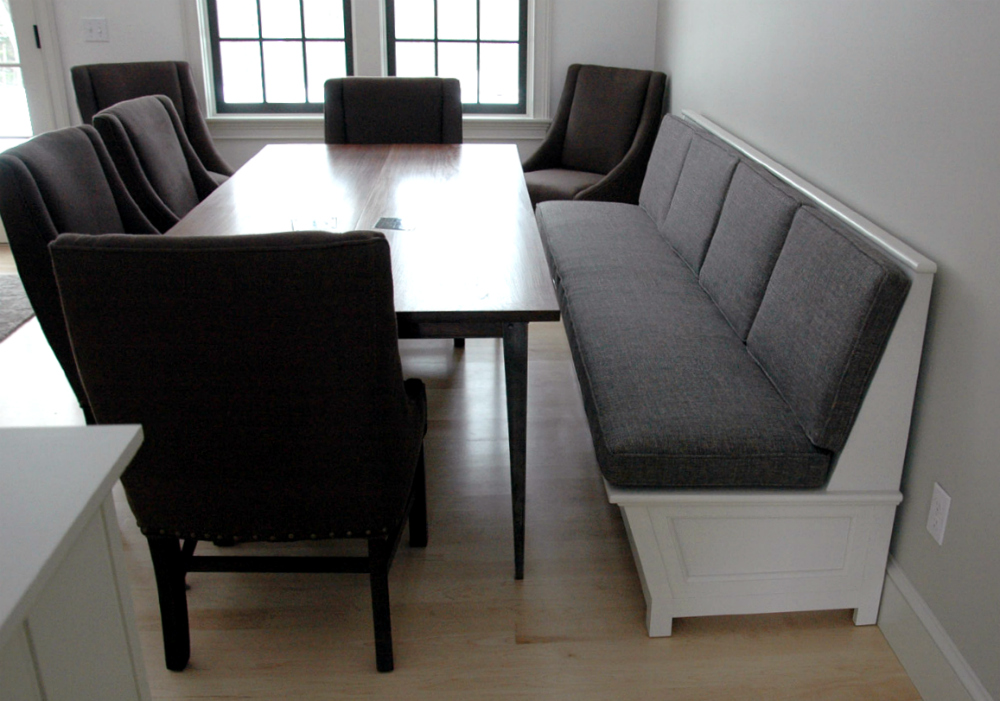 Custom banquettes and benches from vermont furniture makers for What is banquette seating