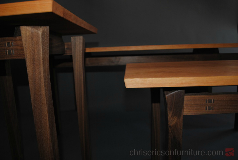 Trio of Coffee Tables, Chris Ericson Furniture